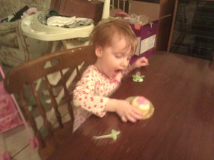 Getting Ready To Eat The First Cupcake